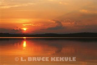 Sunset at Chiang Saen Lake