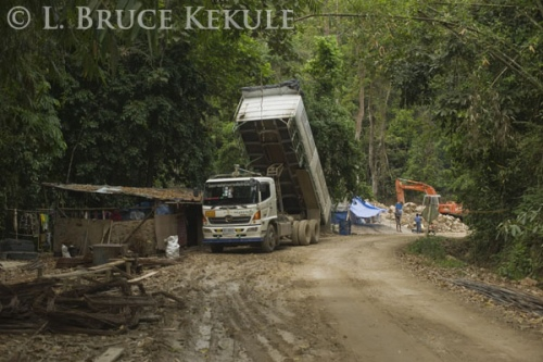 Heavy equipment in Kaeng Krachan
