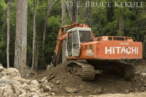 Back-hoe in Kaeng Krachan