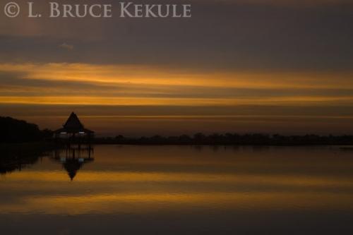 Sunset in Laem Phak Bia