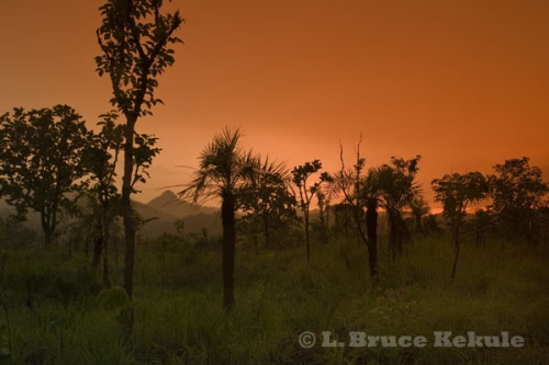 Sunset over Thung Yai Naresuan Wildlife Sanctuary