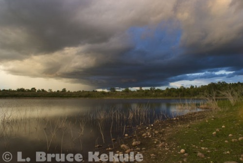 Stormy weather over the Mae Ping River