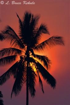 Sunset over Sai Yok