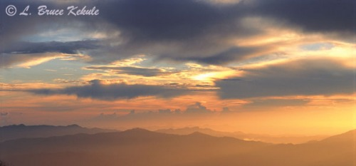 Sunset over Doi Inthanon