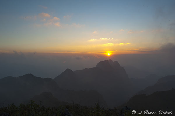 Sunset from Doi Chiang Dao