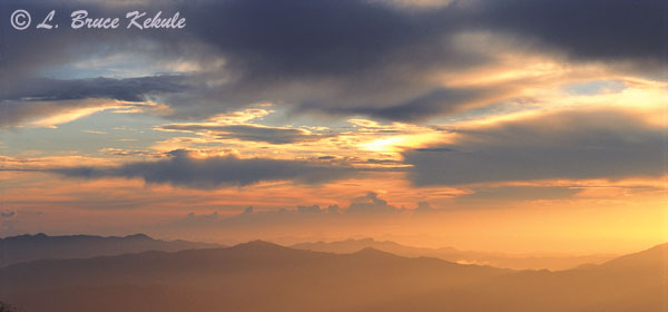 Sunset over Doi Inthanon