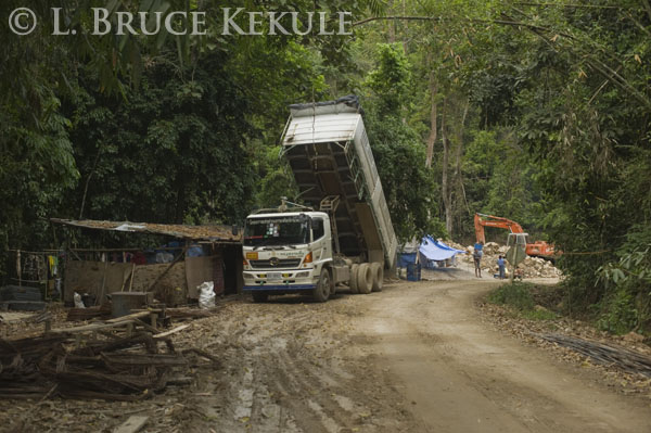 Heavy equipment in Kaeng Krachan